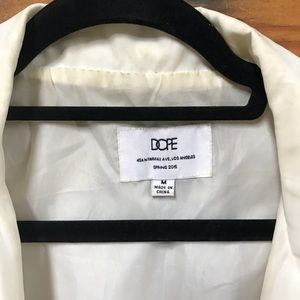 Jackets & Coats - DOPE White Windbreaker Coat